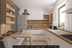 Main Colors, Neutral Colors, Light Colors, Scandinavian Kitchen, Scandinavian Design, Light Shades, Kitchen Designs, Natural Wood, Decorating Your Home