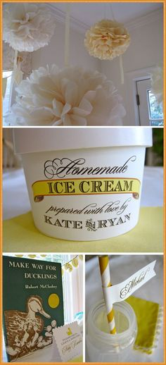 My favorite gender reveal! Jimmy would love it too-he makes homemade icecream every week!