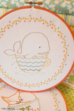 Embroidery Pattern PDF W is for Whale In a by sherimcculley