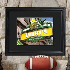 Framed #NFL Pub Sign w/ personalization options for your best man #weddinggifts