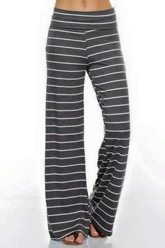 Madison Stripe Wide Pants colors available). These look extra comfy! Comfy Pants, Lounge Pants, Lounge Wear, Casual Pants, Comfy Clothes, Lounge Clothes, Style Palazzo, White Casual, Mode Style