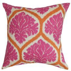 The Pillow Collection Priya Floral Cotton Throw Pillow & Reviews   Wayfair