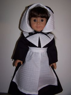 Pilgram outfit fits American girl dolls by ritassewing on Etsy, $18.95