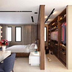 Wardrobe Design Bedroom, Bedroom Wardrobe, Wardrobe Wall, Bedroom Closets, Bedroom Curtains, Dream Closets, Bedroom Apartment, Trendy Bedroom, Modern Bedroom