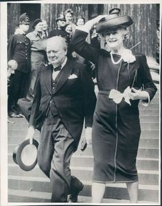 British Prime Minister Winston Churchill With His Wife. Photo is dated 5/23/45.  | eBay