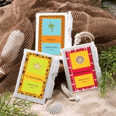 Personalized Note Book Favors - Beach