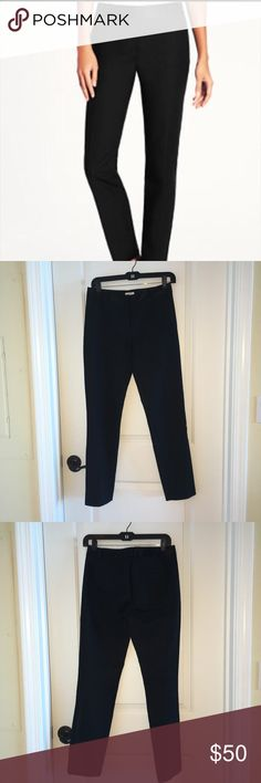 Kate Spade Jackie Tuxedo Pants size 0 Kate Spade Jackie Tuxedo Pant with black satin trim at waist and down leg. Size 0. Ankle. Straight leg. kate spade Pants