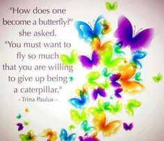 How do you become a butterfly?