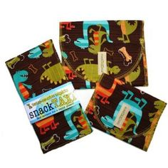 Snack Taxi reuseable snack bags and napkins
