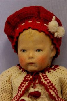 """17"""" RARE Kathe Kruse """"Froghand"""" Doll Ca.1911 Very sweet NO REPAINT !! Excellent"""