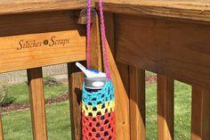 Yarn Society Yarn Bag, Water Bottle Holders, Yarn Store, Scrap, Stitch, Outdoor Decor, Pattern, Fun, Crochet Ideas