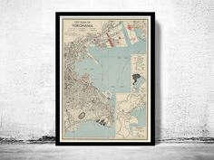 Old Map of Yokohama City Japan  - product images  of