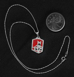 Sterling Silver Castle Crashers Red Lightning Knight Pendant on Etsy for $22.
