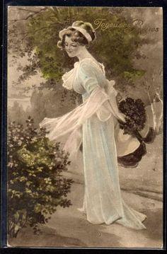 ~DP106 VIENNE Paques FEMME Elegante BOUQUET SBW ~