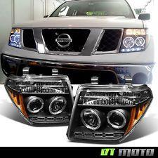 Black Fits 05-07 Frontier Pathfinder LED Halo Projector Headlights Lights Lamp (Fits: 2005 Nissan Pathfinder)