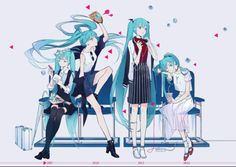 Miku from different years