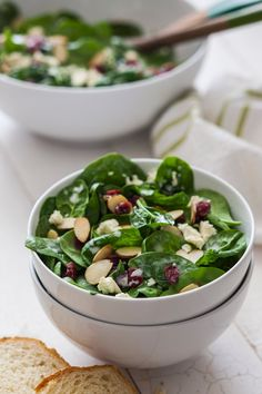 Who says you can't serve a salad at Thanksgiving? With cranberries in the recipe, this easy spinach salad is light, fresh-tasting and seasonal. The perfect way to get everyone's appetite up!
