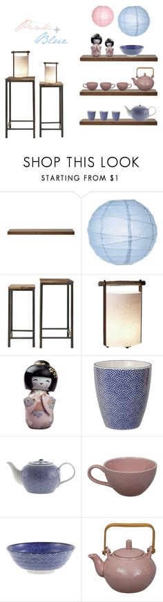 """""""Pinky Blue"""" by southernreef ❤ liked on Polyvore featuring interior, interiors, interior design, home, home decor, interior decorating, URBN, Cultural Intrigue, Safavieh and Lladró"""