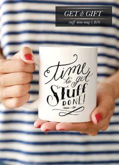 time to get stuff done mug