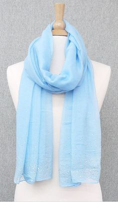 Crystal Mckenzie Scarf in Morning Blue. Love this shade of blue!