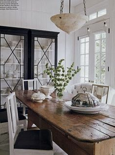 Darryl Carter...cabinet, table, light fixture, windows...PERFECT.