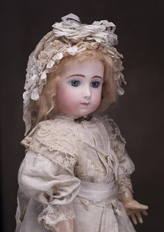 """22"""" (56 cm) Very Beautiful Antique French Bisque Bebe Doll Triste by from respectfulbear on Ruby Lane"""