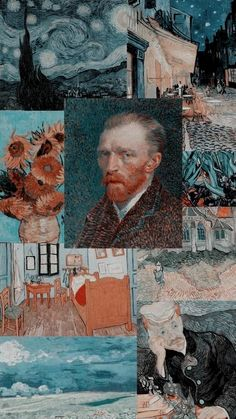 Van Gogh Wallpaper, Wallpaper Pastel, Aesthetic Pastel Wallpaper, Wallpaper Iphone Cute, Galaxy Wallpaper, Cool Wallpaper, Aesthetic Wallpapers, Mobile Wallpaper, Brown Wallpaper