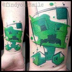 my minecraft tattoo by tom ruki of tenacious tattoo sheffield tattoo ideas pinterest toms. Black Bedroom Furniture Sets. Home Design Ideas