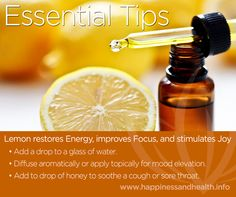 We love Lemon! Here are just a few ideas for the many uses of this powerful citrus essential oil. For personal care and around the house, lemon is an economical staple with unlimited uses and benefits.