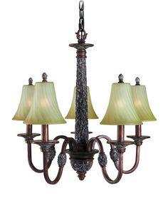 Woodbridge Lighting Vergennes 5-light Bark Chandelier