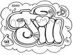 graffiti kleurplaten namen