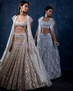 Beautiful Lehenga-Choli with traditional silhouettes. Embellished with hand embroidery as zardose, threads,resham and bugel work . Blouse with jacket. Indian Bridal Outfits, Indian Bridal Lehenga, Indian Designer Outfits, Wedding Lehnga, Pakistani Bridal, Bridal Dresses, Indian Dress Up, Indian Attire, Indian Wear
