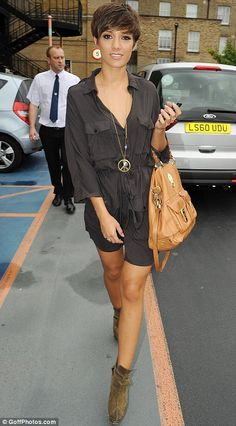 Frankie Sandford and her cute hair! I love it!