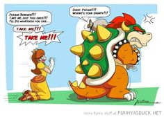 Role Starved #PrincessDaisy gets desperate as #Nintendo continue to neglect her character. More funny Mario comics and pictures at http://www.themariobros.net/funny-pictures/
