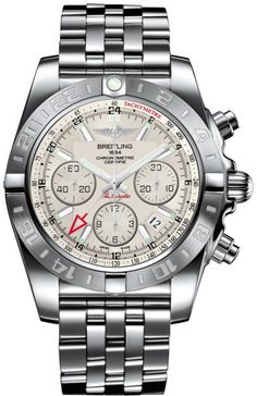 @breitling  Watch Chronomat 44 GMT #bezel-bidirectional #bracelet-strap-steel…