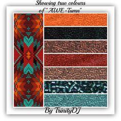 BP-LOOM-029 Awe-Tumn Loom Bracelet Pattern one of by TrinityDJ