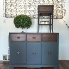 Buffet in General Finishes  Queenstown Gray & Java Gel Stain