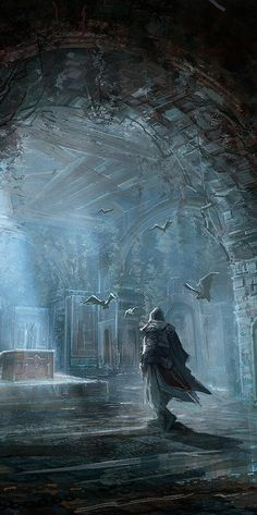 Meanwhile Back in The Dungeon..., fantasy-art-engine:   Into the Tombs