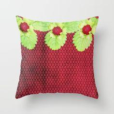 Strawberry LOVE Throw Pillow  #vintage #shabby #betterhome #society6 #homedecor #nobleness #elegant  #iphone #cover #cases