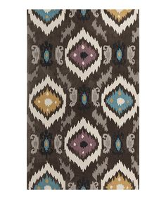 Love this Ocean Blue & Chocolate Mamba Rug by Surya on #zulily! #zulilyfinds