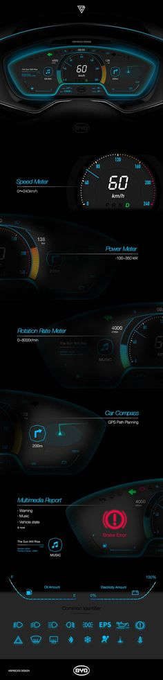 BYD automobile instrument panel design on Behance