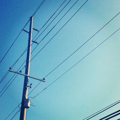 Completely #BLUE sky today. Ahhhh.... #Summer #powerlines
