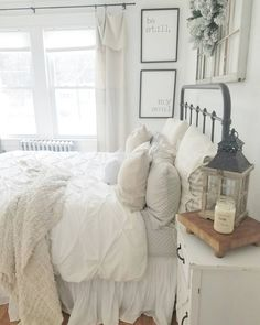 35 Amazingly Pretty Shabby Chic Bedroom Design and Decor Ideas - The Trending House Gray Bedroom, Home Decor Bedroom, Modern Bedroom, Bedroom Furniture, Master Bedroom, Bedroom Ideas, Bedroom Designs, Contemporary Bedroom, Master Suite