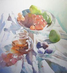 静物画の描き方1(中盤) : 福井良佑の水彩画 Watercolor Terrace