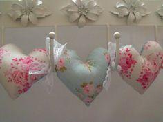 Tilda decorative fabric hanging heart by FingerPrickingGood