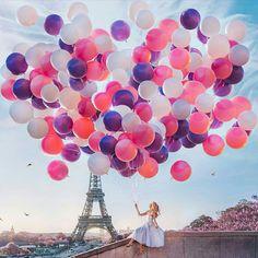 Eiffel tower 🗼 I ♥ Paris 2 Tour Eiffel, Torre Eiffel Paris, Ballons Fotografie, Image Paris, Le Vent Se Leve, Meditation France, Beautiful Places, Beautiful Pictures, Paris Wallpaper