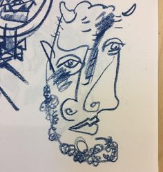 Feeling like a bit of a Picasso morning....#spilsburyillustration #studiospilsbury #picasso #drawing #picoftheday #abstract #sketch #character