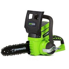 """GreenWorks G-24 24V 10"""" Cordless Chainsaw  - Battery and Charger Not Included"""