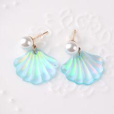 Nouveau Mignon Shell Boucles D'oreilles pour les Femmes Accessoires De Mode Perle Boucles D'oreilles 4A1006