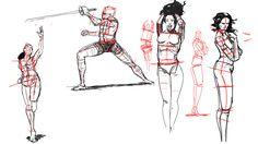 "gesture sketches, Przemek ""jimmy"" Duda on ArtStation at https://www.artstation.com/artwork/w9gPZ"